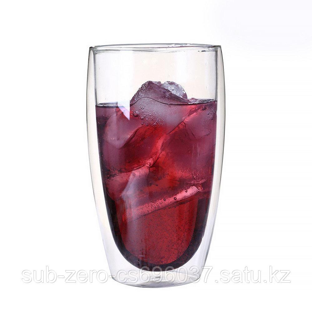 Стеклянный стакан с двойным дном 450мл