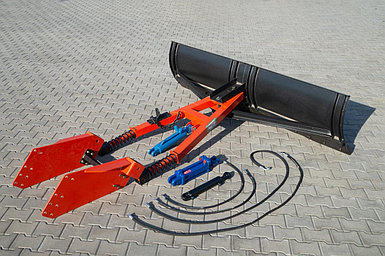 ОТВАЛ ПЕРЕДНИЙ ДЛЯ СНЕГА С ГИДРОПОВОРОТОМ МТЗ-80/82 1ОТ-7 (НО-79-1.01) ширина 2.5 м.