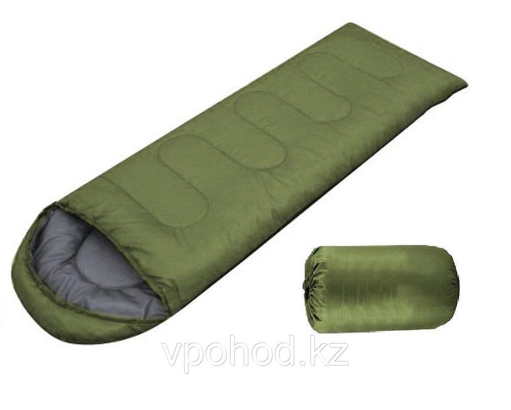Армейский спальный мешок зеленый
