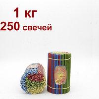 Разноцветные восковые свечи высота 165мм горят 50 мин, фото 1