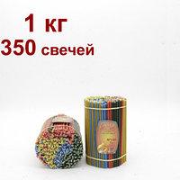 Разноцветные восковые свечи высота 160мм горят 30 мин, фото 1