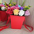 Букет мыльных роз, 17 неувядаемых роз, фото 2
