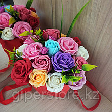 Букет мыльных роз, 17 неувядаемых роз