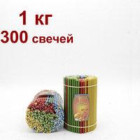 Разноцветные восковые свечи высота 160мм горят 35 мин, фото 1