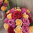 Розы из мыла, букет из 23шт., фото 3