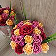 Розы из мыла, букет из 23шт., фото 2