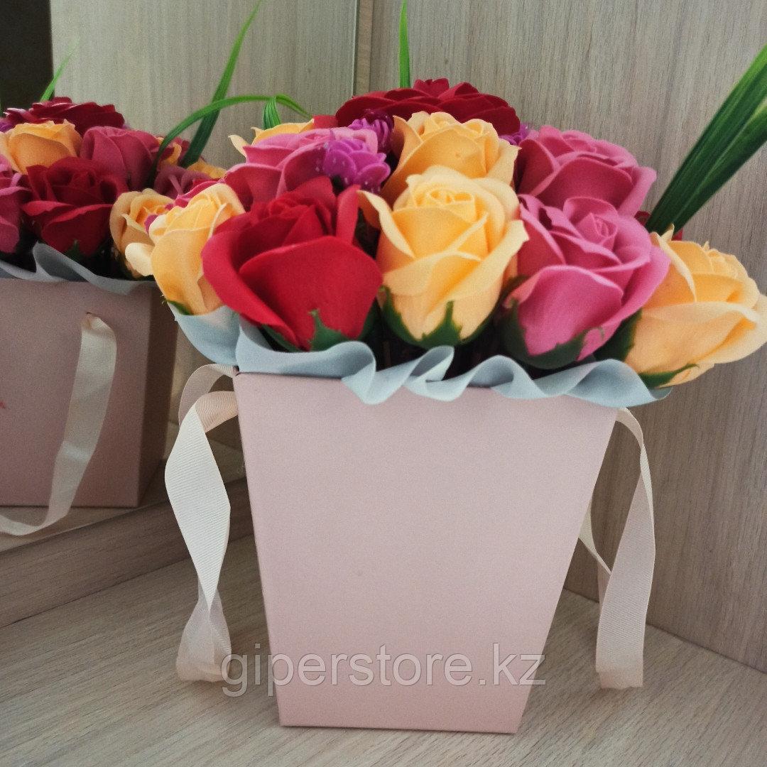 Розы из мыла, букет из 23шт.