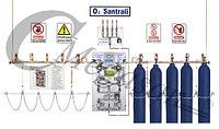 Центральная газовая станция(блок подачи баллонов)