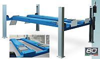 Подъемник четырехстоечный 5 т, для поста сход-развал, длина платформ 5700 мм с люфт-детектором RAV4505L