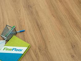 Кварцвиниловая плитка клеевая FineFloor Wood Дуб Орхус