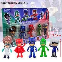 Игровой набор Герои в масках Pj Masks 5 фигурок Кэтбой, Алетт, Гекко, Ромео и Лунная девочка