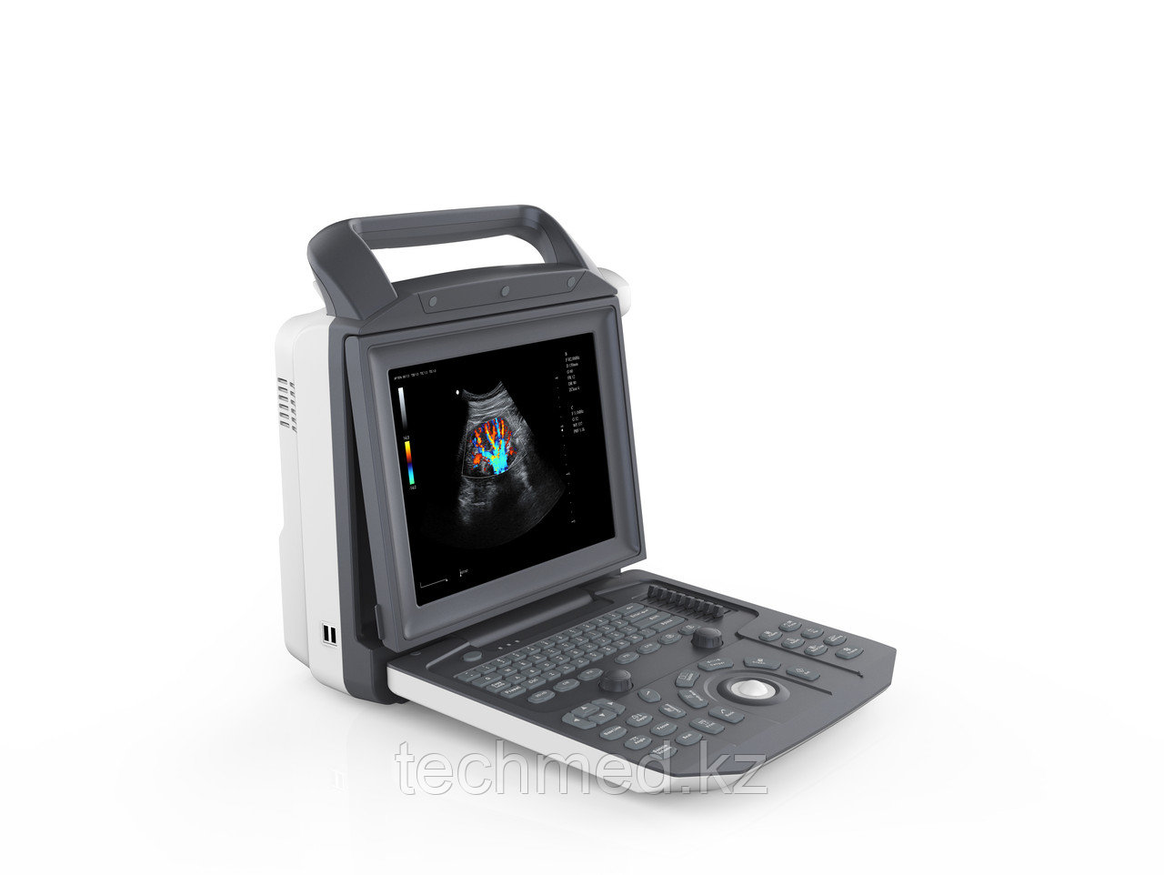 Цифровой стационарный УЗИ-сканер с цветным, энергетическим, импульсным и постоянным допплером ZONCARE Q3