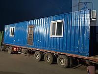Жилой вагончик с санузлом и душем из 40 футового морского контейнера, фото 1
