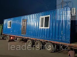 Жилой вагончик с санузлом и душем из 40 футового морского контейнера