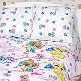 Детское постельное бельё Хвостики, р-р Ясельки, фото 3