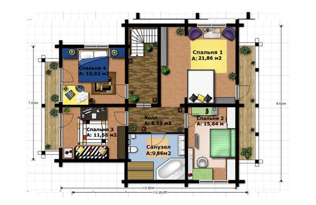 Частный жилой дом строительство по индивидуальному проекту под ключ, план двухэтажного дома и строительство под ключ, проектирование и строительство деревянных домов.