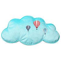 "Подушка,в виде облачко ""UPPT?G УППТОГ"",голубой,59 x 34 см"