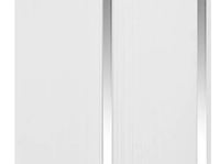 "Потолочная ПВХ панель ""Hast Plast"" 2-вух полосная, 250х4000 мм 1 м2 (Серебро-белый глянцевый)"