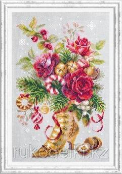 """Набор для вышивания крестом """"Рождественский сюрприз"""""""