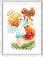 """Набор для вышивания крестом """"Ангел Рождества"""""""