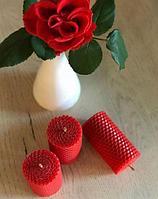 Свечки восковые Красные из вощины., фото 1