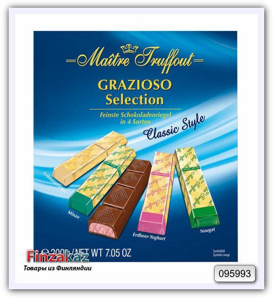 Шоколадные батончики Maitre Truffout Grazioso  classic style 200гр