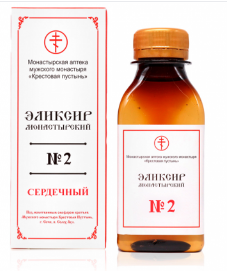 "Эликсир монастырский № 2 ""Сердечный"",  100 мл"