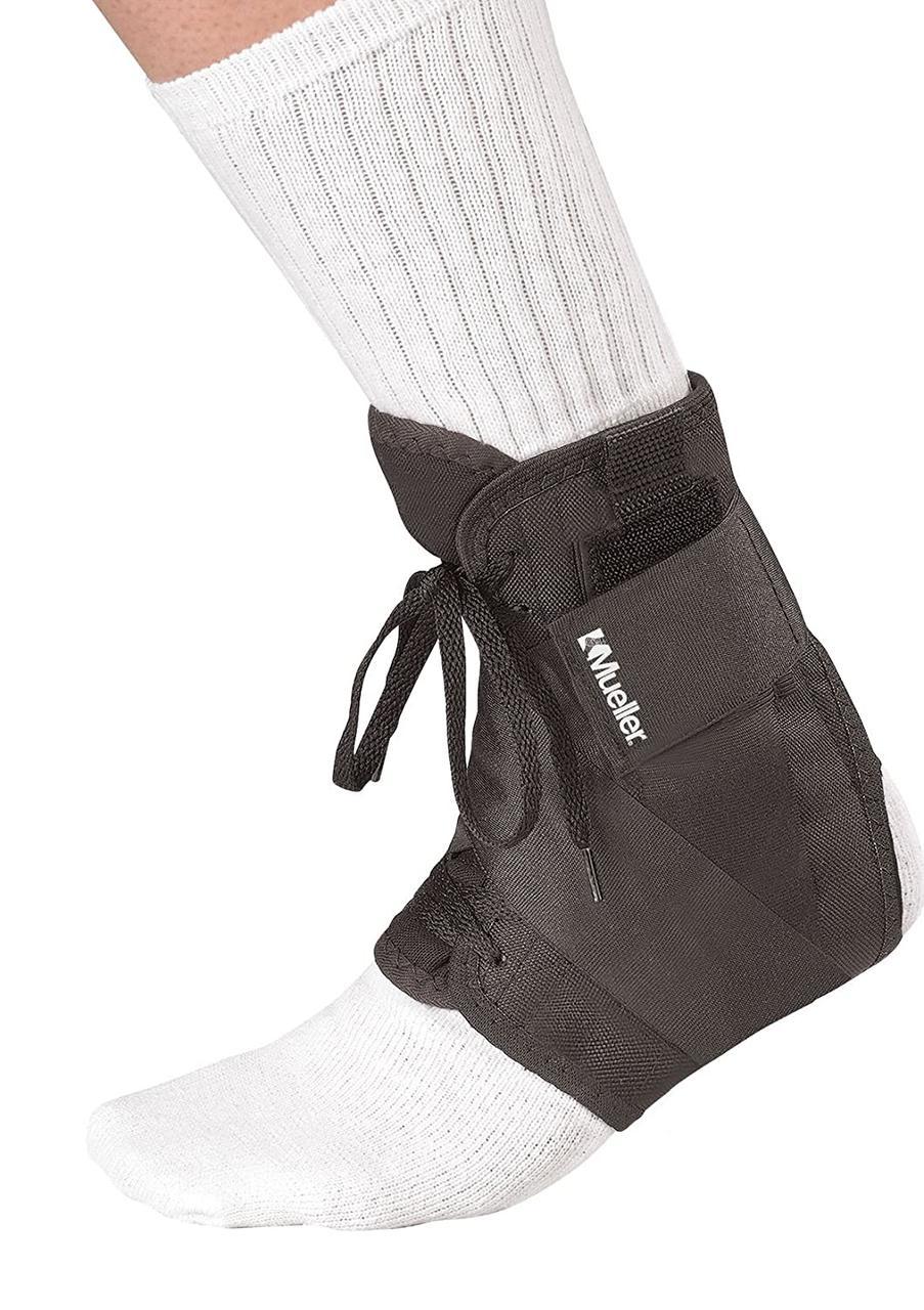 Бандаж на голеностопный сустав Mueller с завязками черный 213 LG (46740) - фото 2