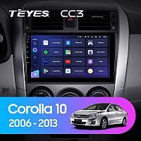 Автомагнитола Teyes CC3 3GB/32GB для Toyota Corolla 2006-2013