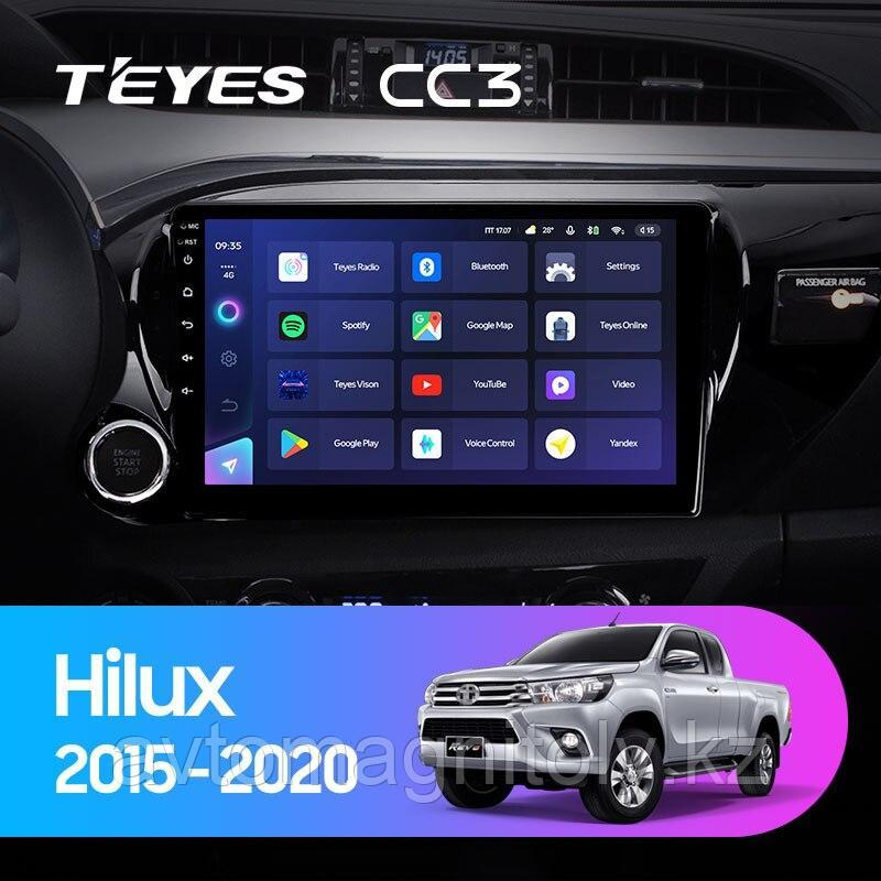 Автомагнитола Teyes CC3 3GB/32GB для Toyota Hilux 2015-2020