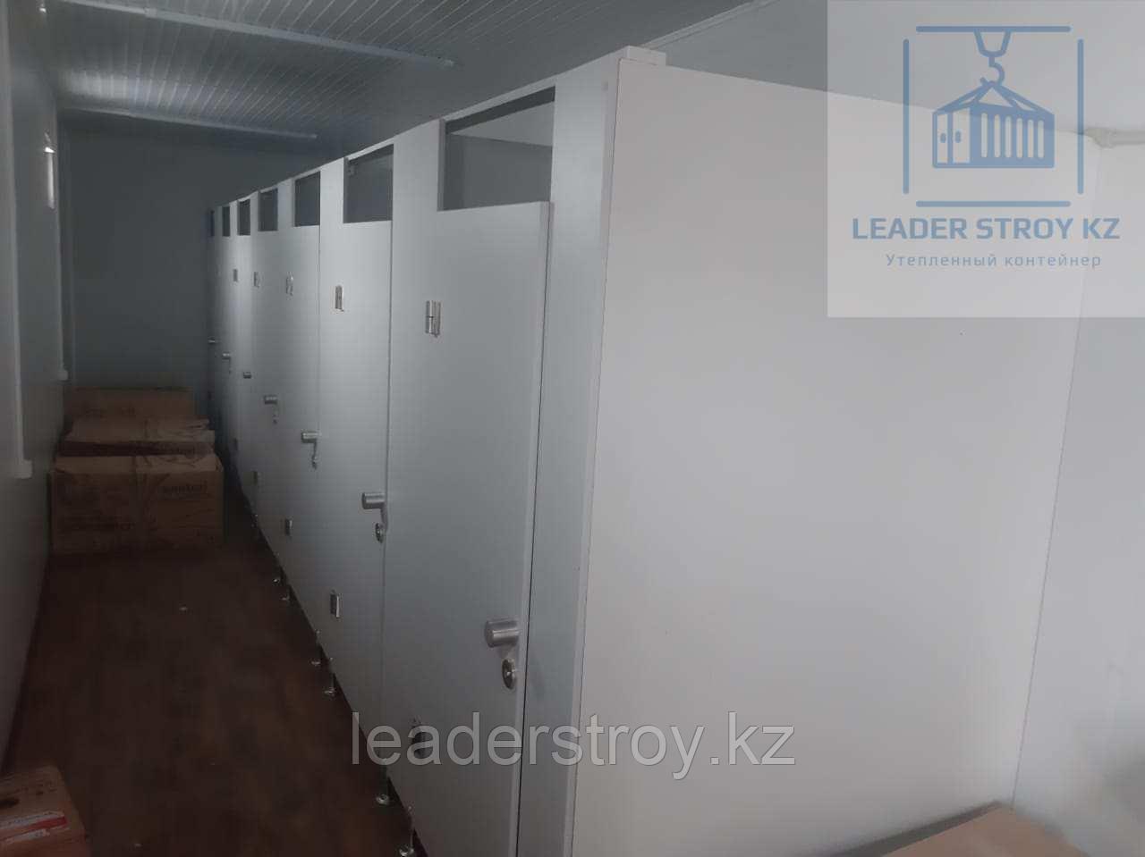 Модульный туалет из 40 футового контейнера