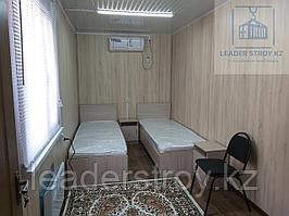 Дом из двух комнат с санузлом и душем из 40 футового контейнера