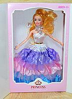 Немного помятая!!! 186 Кукла Принцесса в подарочной коробке,гнется в суставах, 32*21см, фото 1