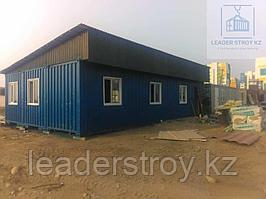 Столовая из трех 40 футовых контейнеров а Алматы