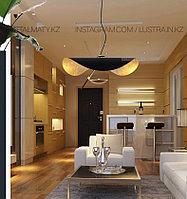Современная дизайнерская светодиодная Подвесная лампа в стиле постмодерн, фото 1