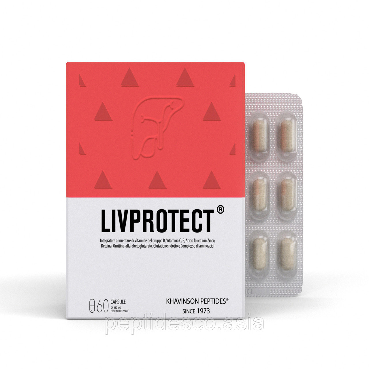 LIVPROTECT® ливпротект  - пептидный комплекс для печени и ЖКТ. Khavinson Peptides