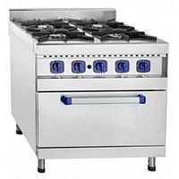 Плита газовая кухонная 4-х горелочная ПГК-49ЖШ с газовой духовкой, фото 1