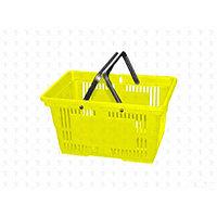 Корзина покупательская, пластик, желтая