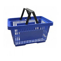 Корзина покупательская, пластик, синяя
