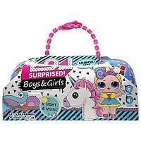 Куколка-Единорожка L.O.L. BIGGER Surprise в большой капсуле с динамиком и цветомузыкой [реплика] (Boys &