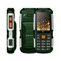 BQ 2430 Tank Power Green Silver аналоговый телефон (BQ-2430 Зелёный+Серебро)