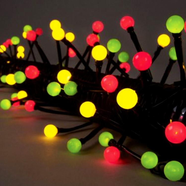 """Гирлянда желто-зелено-красная """"Жемчуга"""" 10м 80диодов LED"""