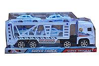 Детский игровой набор из 5 машинок: полицейский автовоз, 4 полицейских легковых автомобилей.
