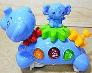 HD9036 Spining Flephant слоник музыкальный ездит на бат. 22*10см, фото 3