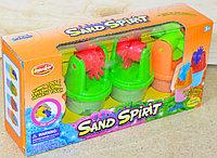 JL4003 Sand Spirit кинетический песок 4 баночки, 24*12см, фото 1