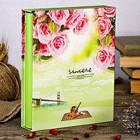 """Фотоальбом на 200 фото 10х15 см """"Природа. Цветы"""" в коробке МИКС 26х21х5,2 см"""