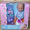 8060-501 Cute Baby пупс с горшком,набор для кормления (отправ. в разобран.виде)38*37см