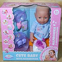 8060-501 Cute Baby пупс с горшком,набор для кормления (отправ. в разобран.виде)38*37см, фото 1