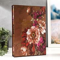 "Фотоальбом на 300 фото 10х15 см ""Винтажные цветы"" в коробке МИКС 34х23х5,5 см"