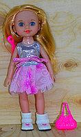 931-D May-May Girls кукла в сумочке с расческой, качественная, 27*11см, фото 1